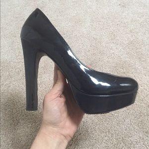 Mossimo black patent platform heels
